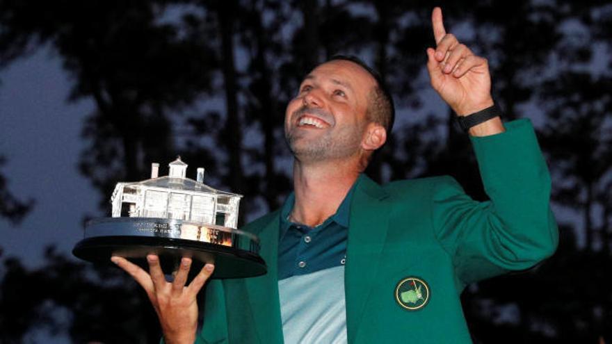 Sergio García se viste de verde en el Masters de Augusta