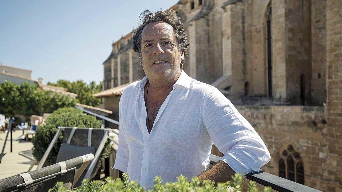 Luis Galliussi, ayer, en el Hotel Sant Francesc de Palma.