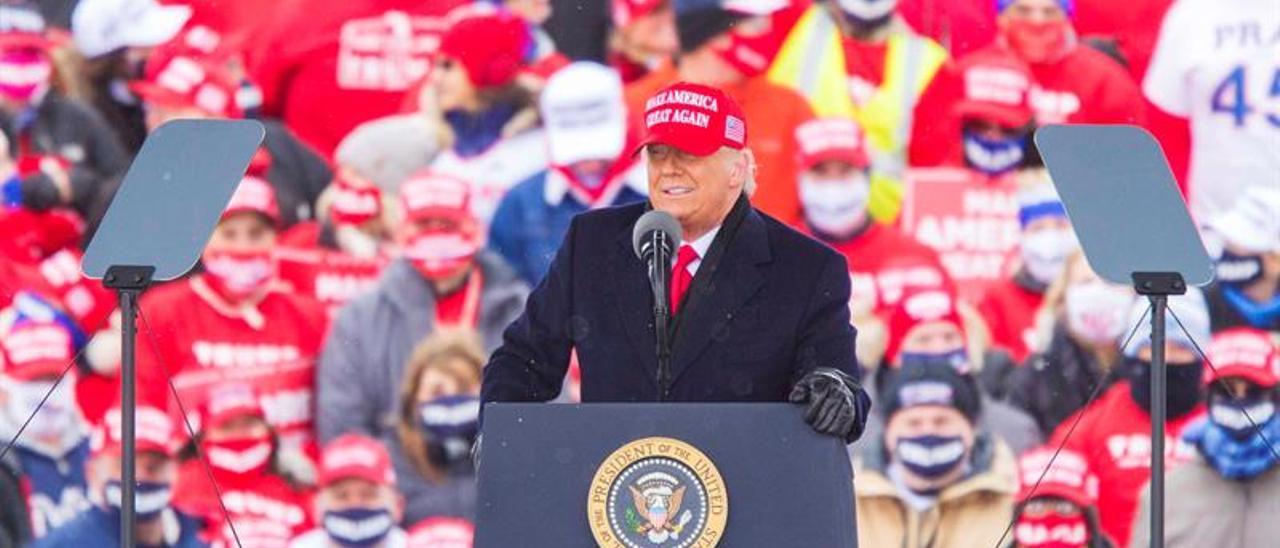 Trump niega que vaya a cantar victoria antes de tiempo