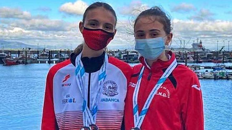 Plata y bronce para Carmen Escariz e Iria Rivas en el Gallego de Marcha