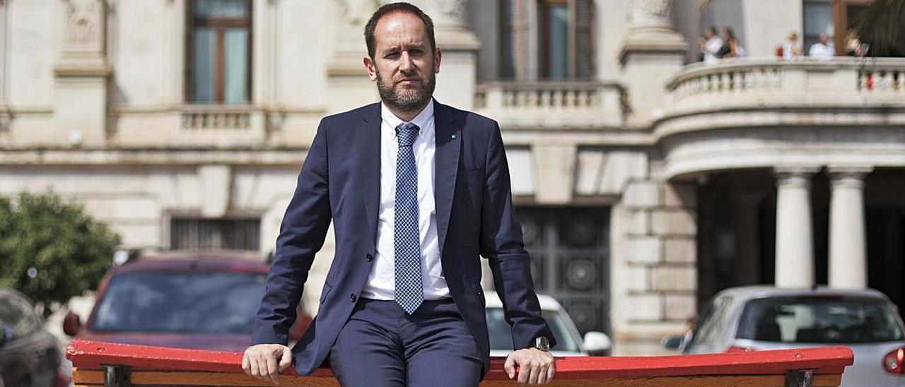 Aarón Cano, concejal de Protección Ciudadana del Ayuntamiento de València.   F. BUSTAMENTE