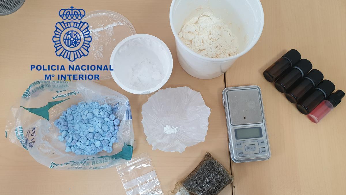Las sustancias incautadas por la Policía Nacional