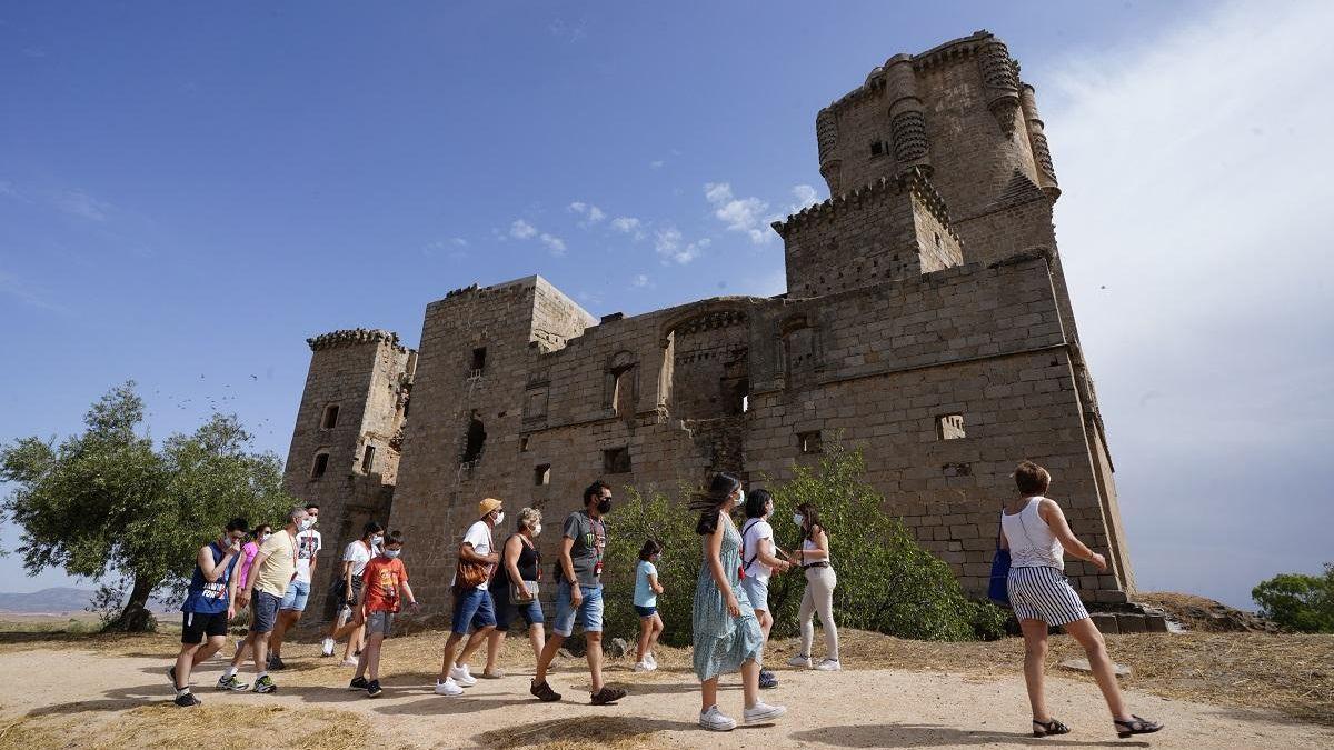 Imagen de archivo de una visita al castillo de Belalcázar.