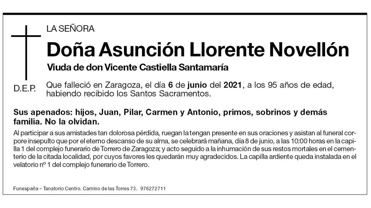 Asunción Llorente Novellón