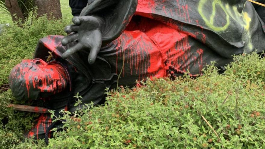 Statue des von Mallorca stammenden Missionars Junípero Serra beschädigt