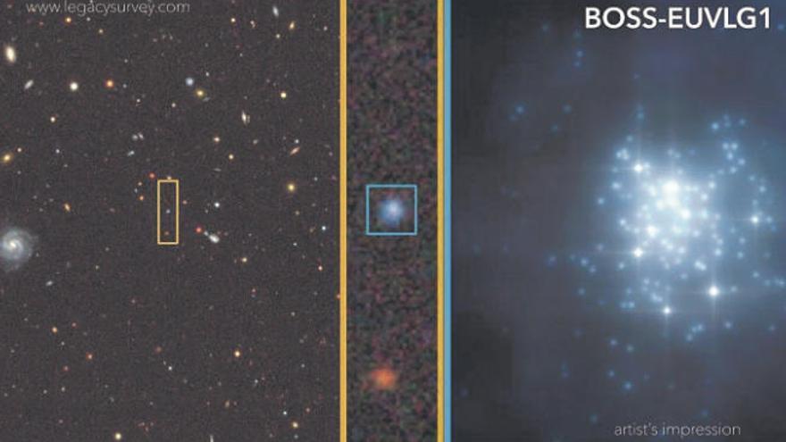 Descubierta una galaxia con luminosidad similar a un cuásar