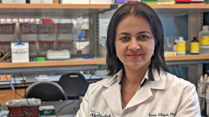 La científica gallega Sonia Villapol, en su laboratorio de Houston.