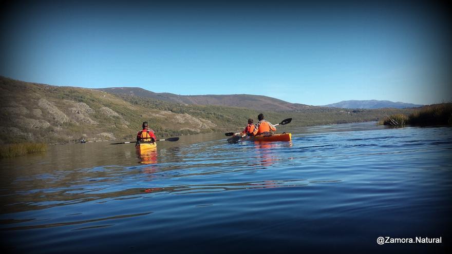 Lago Sanabria en piragua