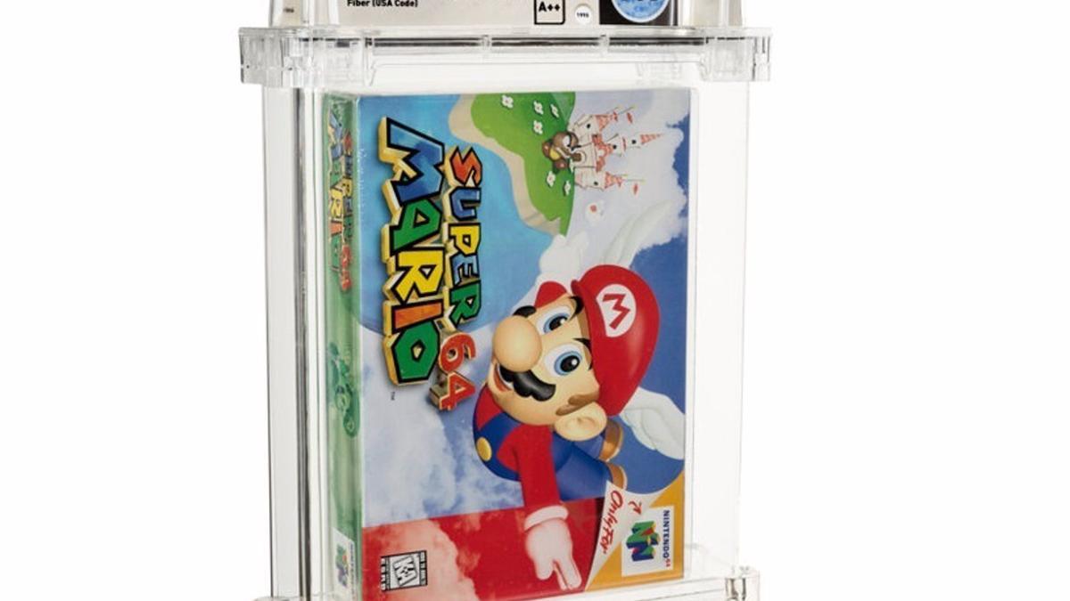 Sealed copy of Super Mario 64.