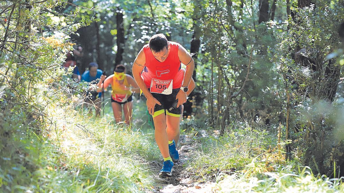 La duresa del Vertical Trail va obligar els corredors a fer un esforç notable