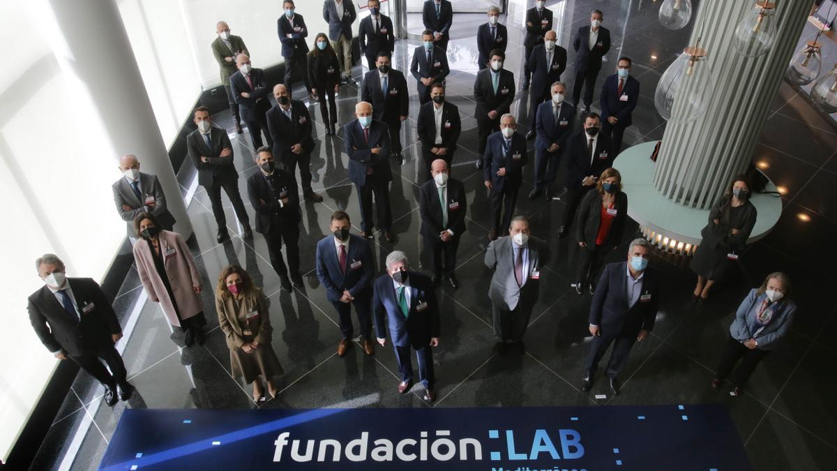 Los patronos de la fundación, hoy en València
