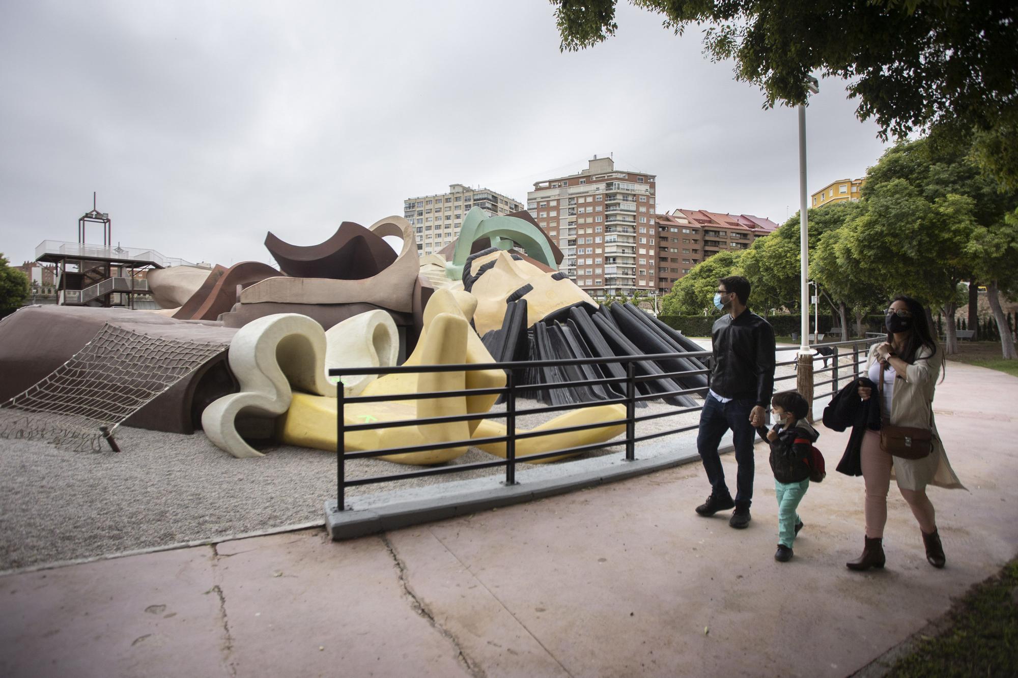 Así ha sido el cierre del parque Gulliver por la alergia de la nueva pintura