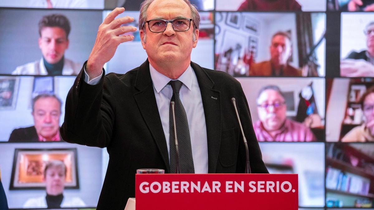 Una imagen de Ángel Gabilondo durante un acto del PSOE.