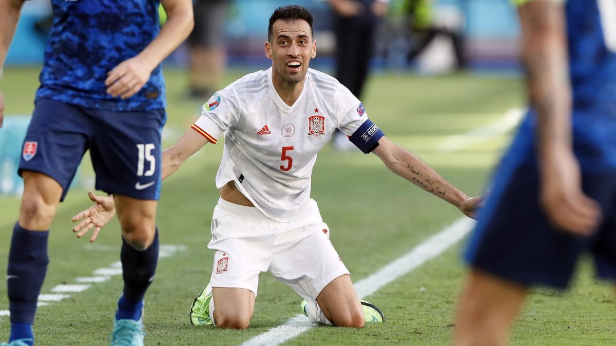 Busquets, el capitán de la selección española.