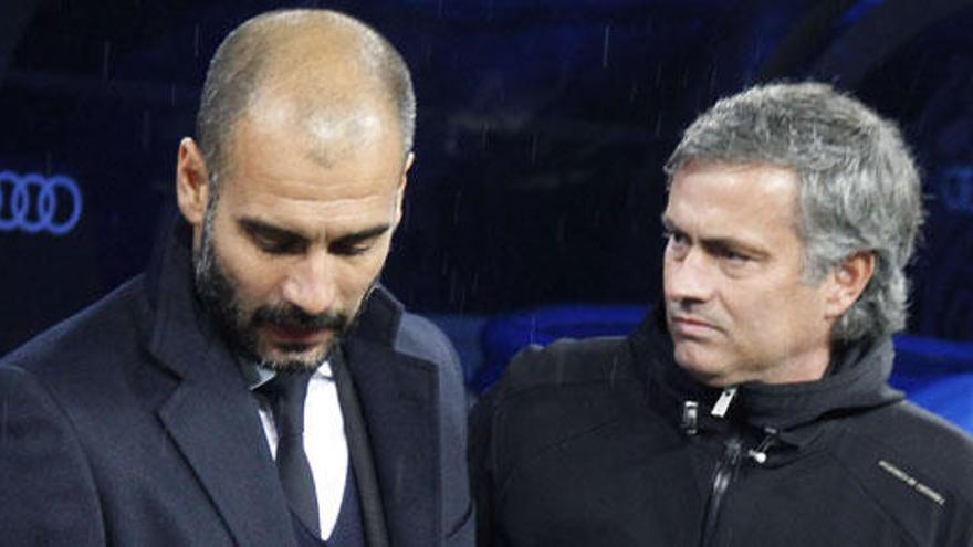 "Guardiola atribuye a la prensa ""la rivalidad con Mourinho"""