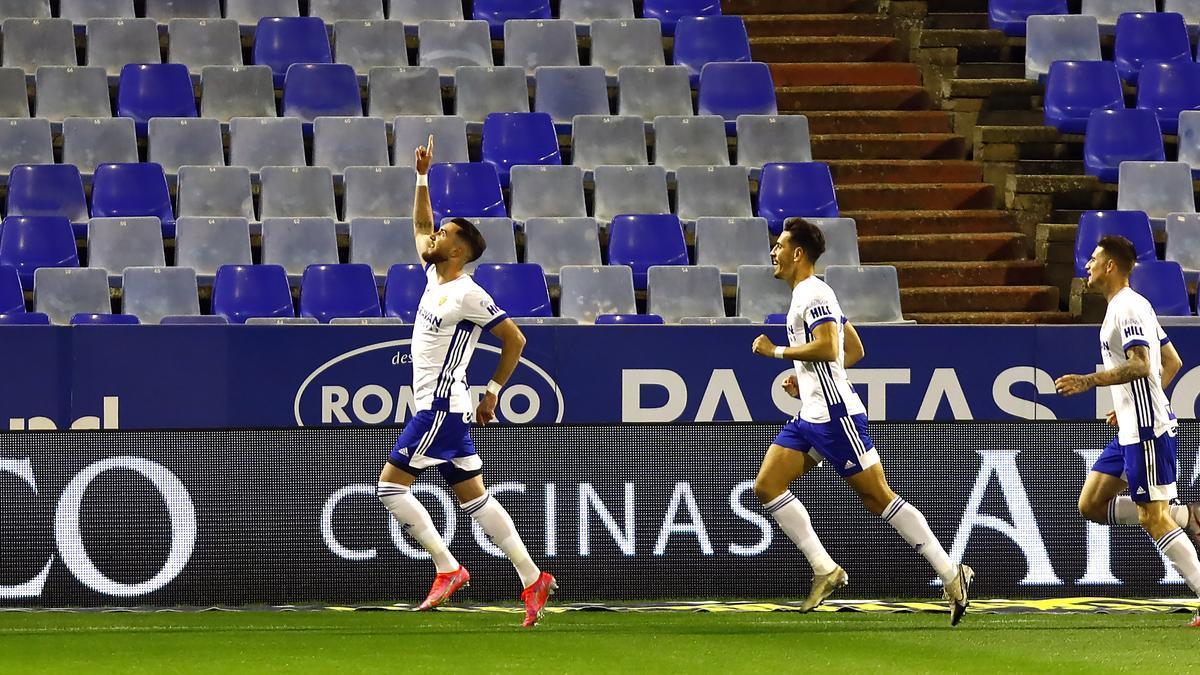 Peybernes, durante un partido con el Zaragoza