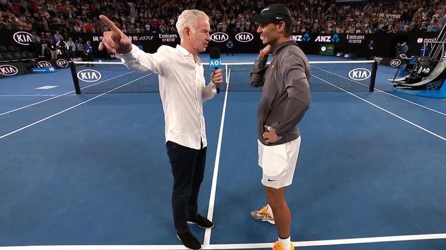 """Nadal bromea con McEnroe: """"Nos estamos haciendo viejos"""""""