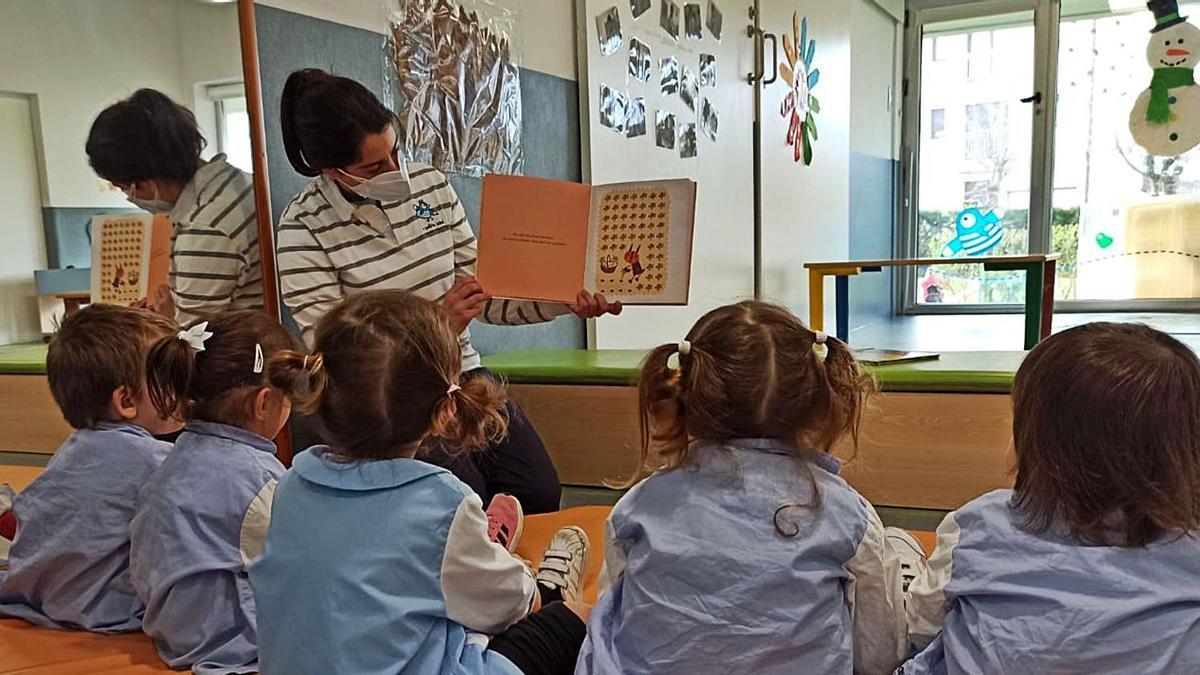 Una clase en una escuela infantil.