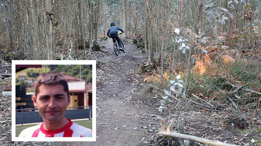 """La senda de Deva donde se produjo el accidente mortal de un ciclista, una ruta """"llena de riesgos"""""""