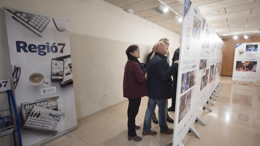 El quart de segle de l'arribada de Regió7 a Igualada emmarca l'exposició dels 40 anys