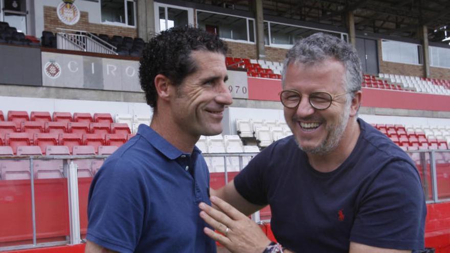 Emotiu comiat del Girona FC de Jordi Balcells i Jordi Guerrero