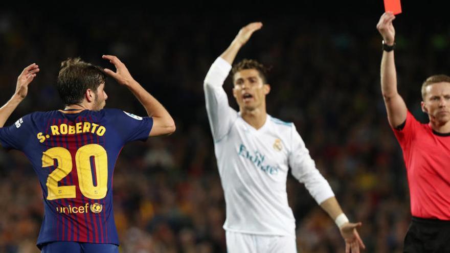Sergi Roberto, suspendido con cuatro partidos por la agresión a Marcelo