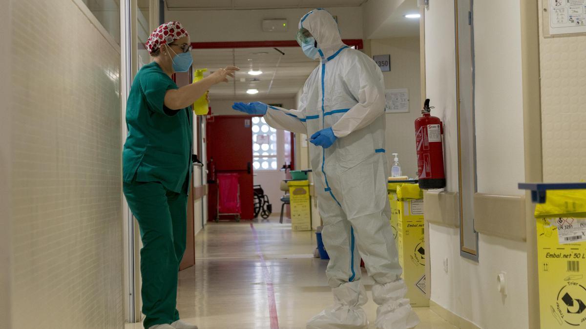Imagen de una unidad covid de hospitalización en Córdoba.