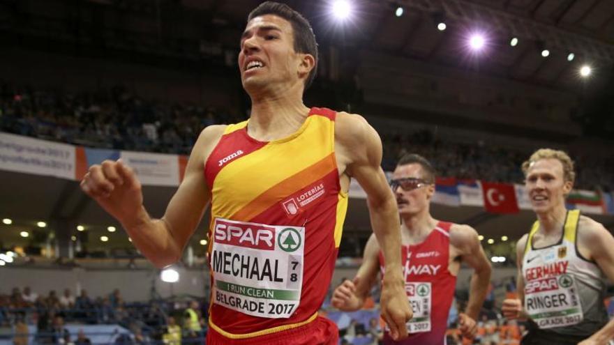 Mechaal logra el oro en los 3.000 metros en pista cubierta