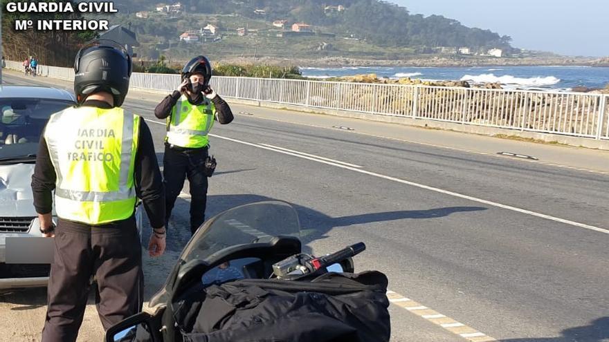 Fin de semana de excesos en las carreteras de Pontevedra: detectados 23 motoristas por sobrepasar la velocidad