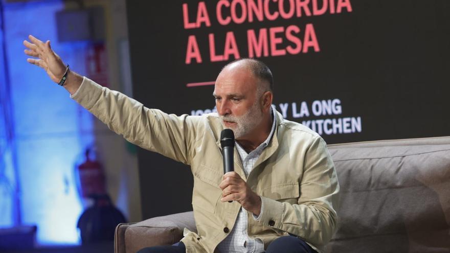 """La lección de José Andrés a los escolares asturianos: """"El éxito es ir de fracaso en fracaso sin perder el entusiasmo"""""""