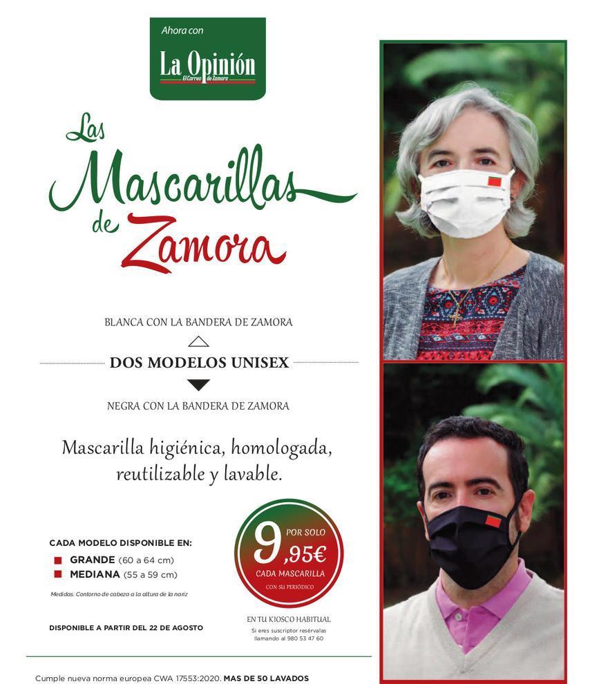 Promoción mascarillas de Zamora