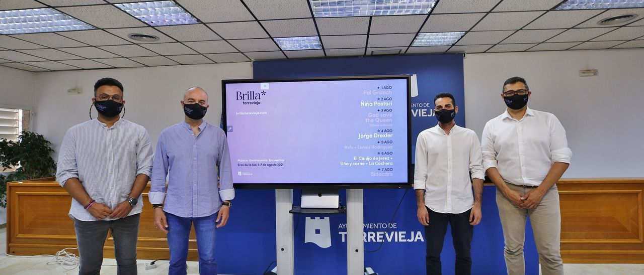 Imagen de la presentación del Brilla Torrevieja Festival Boutique en el Ayuntamiento