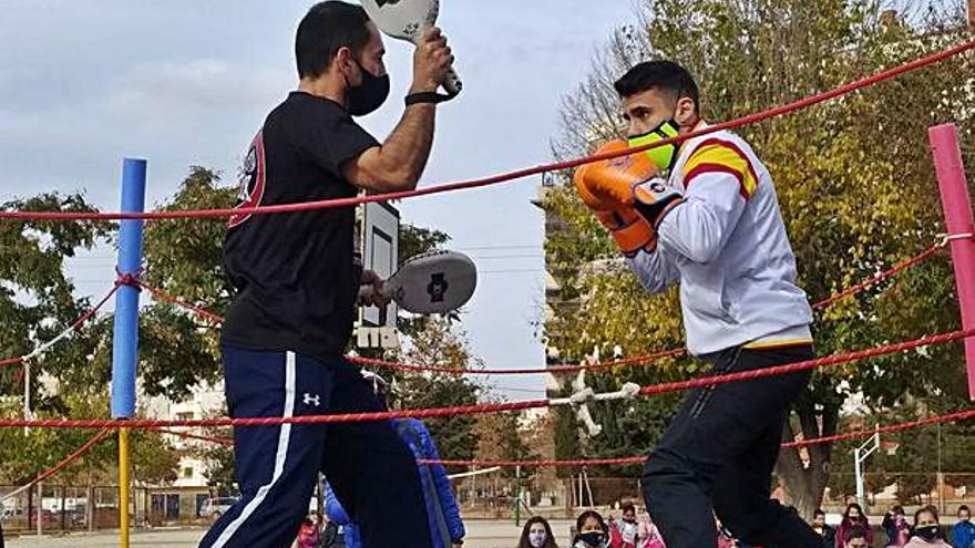 Exhibición de boxeo en el Pintor Sorolla