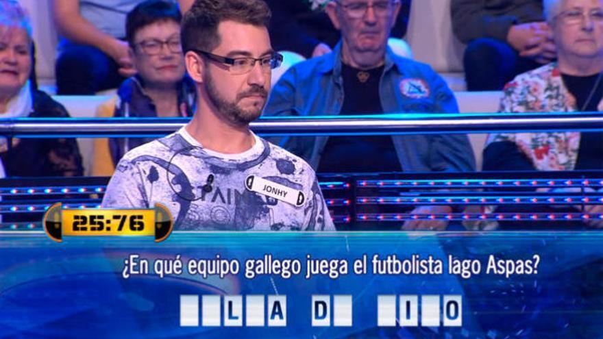 El concursante de 'Ahora Caigo' que le ha cambiado el nombre al Celta de Vigo