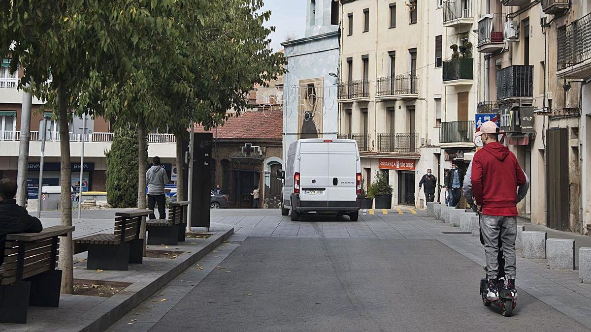 Plaça d'Europa, on es va produir la ganivetada ahir al migdia | ARXIU/MIREIA ARSO
