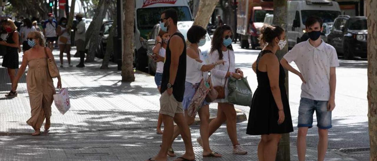 Ibiza, el primer día en el que se decretó la obligación de usar mascarilla.
