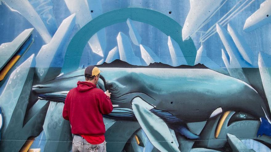 """El """"Cíes Talent"""" convierte a Navia en la capital gallega del graffiti"""