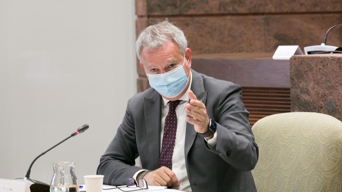 Sebastián Franquis, consejero de Obras Públicas, Transportes y Viviendas en el Gobierno de Canarias.