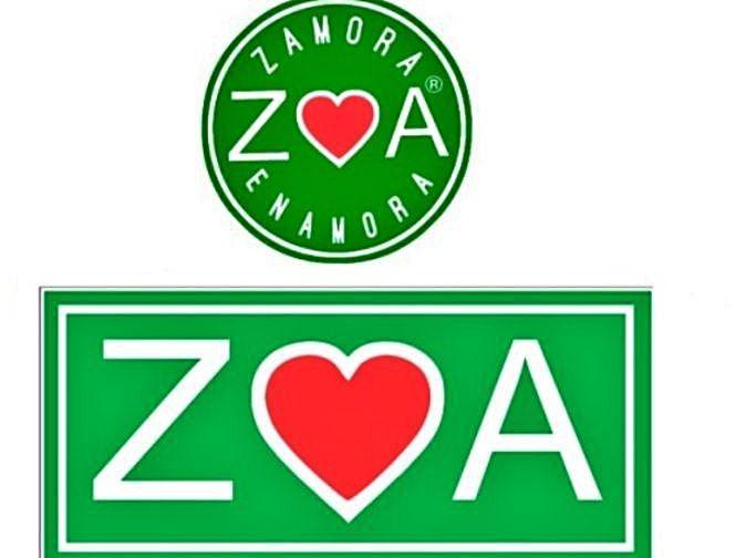 Arriba, logo que utiliza José Antonio Parro, que tiene registrada la marca de abajo, el corazón con las letas A y Z