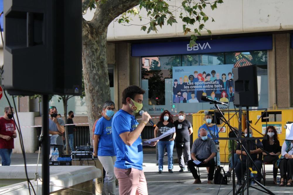 Imatges de la concentració de Figueres.