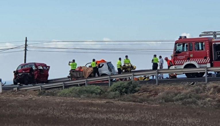 Grave accidente de tráfico en Tinajo