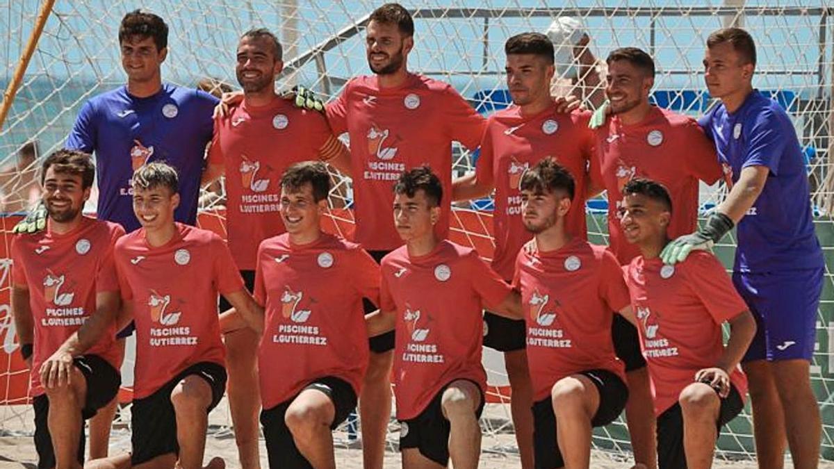 L'equip absolut del Roses Platja de futbol