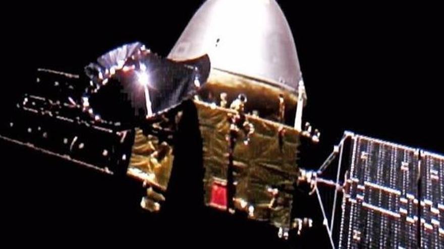 La misión china a Marte envía 'selfies' desde el espacio