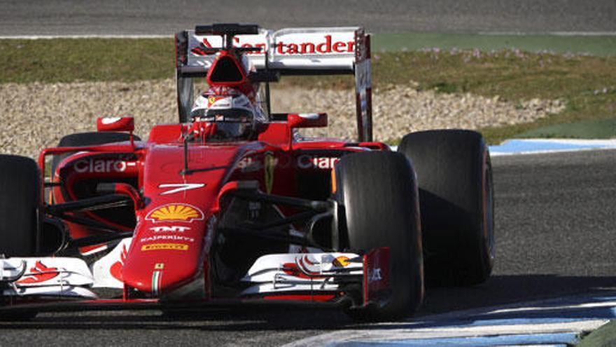 Raikkonen, mejor tiempo en los entrenamientos de Jerez