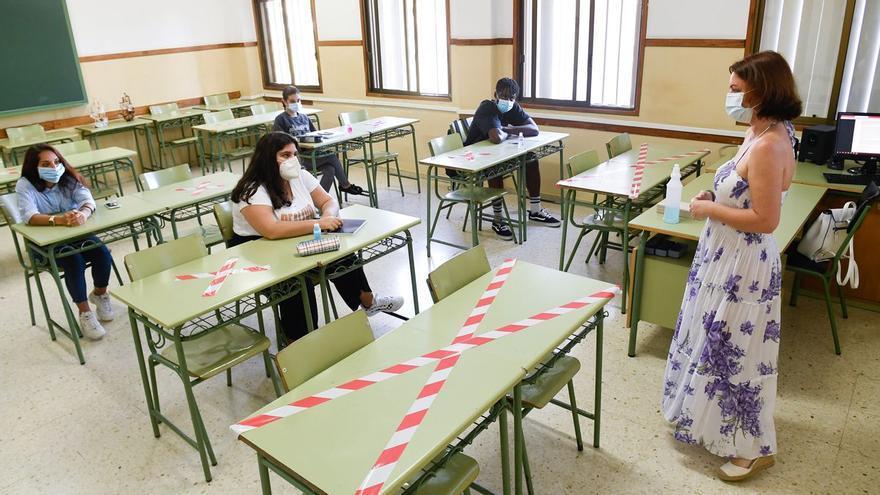 Las aulas canarias tienen mejores datos ante el Covid-19 que la media nacional