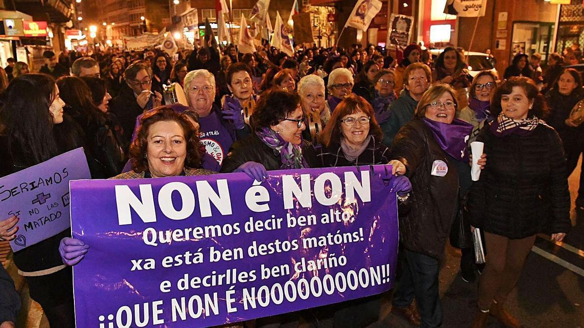 Manifestación de un 8-M en A Coruña. |   // VÍCTOR ECHAVE
