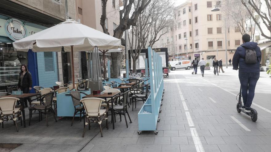 Wirte in Palma de Mallorca verzichten mürrisch auf Markisen-Zelte