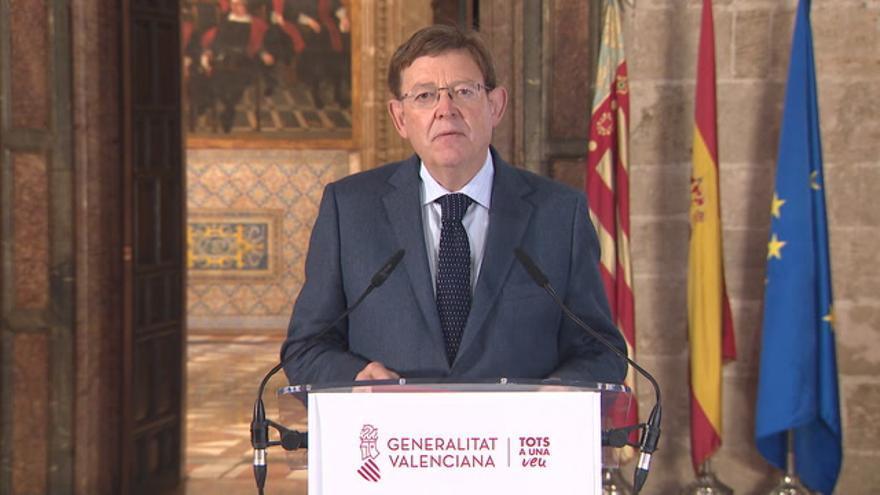 Declaración institucional de Ximo Puig