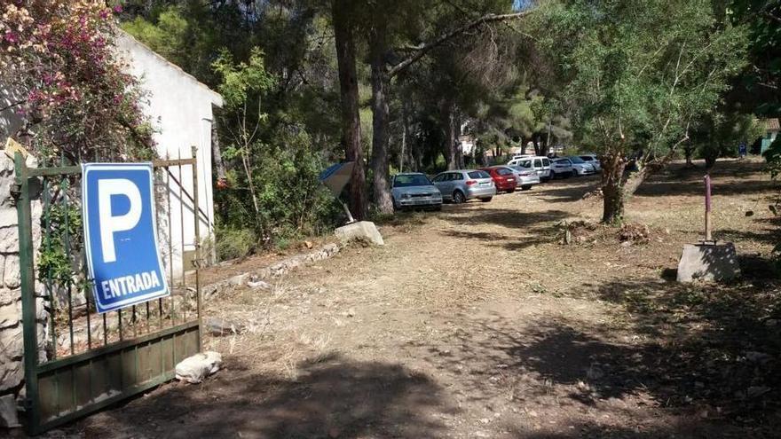 Nuevo aparcamiento para la playa del Portet de Moraira