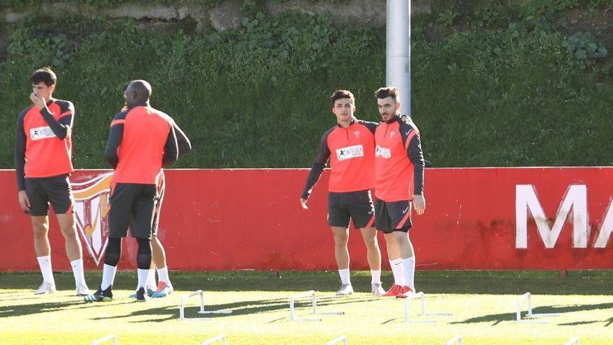 Campuzano ya se entrena con el Sporting